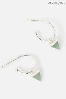 Accessorize Aventurine Healing Stones Earrings