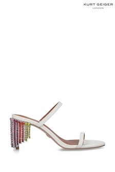 Kurt Geiger London Cream Petra Rainbow Sandals