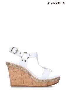 Carvela White Karonlina Sandals