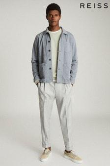 Reiss Blue Conley Casual Worker Jacket