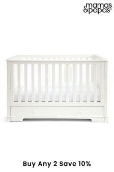 White Mamas & Papas Oxford Cot Bed