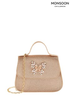 Monsoon Gold Shimmer Jewel Butterfly Bag