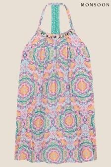 Monsoon Purple Clarissa Mandala Print Dress