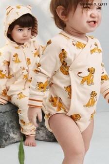 Polarn O. Pyret Disney The Lion King Cream Organic Cotton Simba Wrap Babygrow