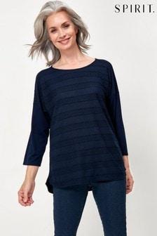Spirit Blue Jersey Texture T-Shirt