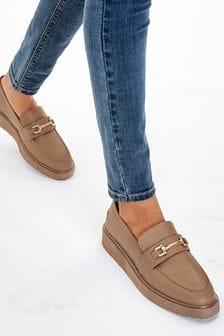 Camel EVA Wedge Loafers