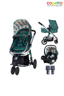 Cosatto Giggle 2 in 1 Pushchair Bundle with Car Seat Fox Friends