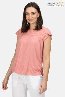 Regatta Pink Abitha Broderie T-Shirt