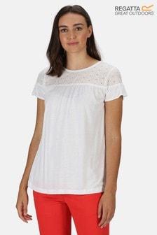 Regatta White Abitha Broderie T-Shirt