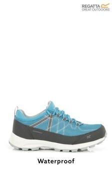 Regatta Blue Lady Samaris Lite Waterproof Walking Shoes