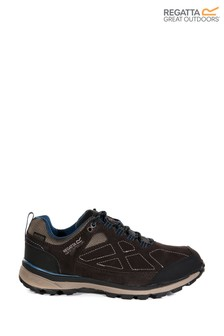 Regatta Brown Lady Samaris Suede Waterproof Walking Shoes