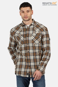 Regatta Orange Tavior Long Sleeve Fleece Lined Shirt