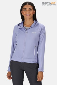Regatta Purple Cuba Hooded Softshell Jacket