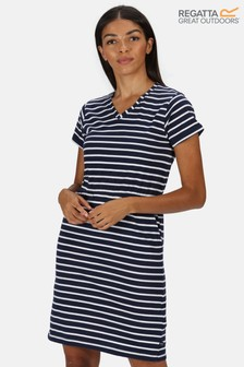 Regatta Blue Havilah Cotton Printed Jersey Dress