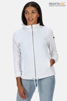 Regatta White Ranielle Full Zip Hooded Fleece