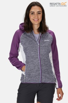 Regatta Purple Walbury Full Zip Hooded Fleece