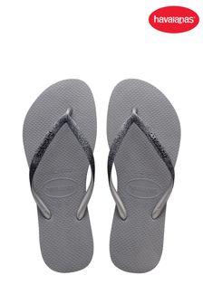 Havaianas Grey Slim Sparkle ll Flip Flops