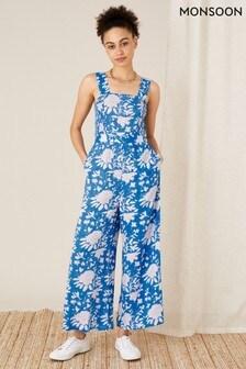 Monsoon Blue Printed Jumpsuit