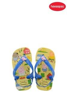 Havaianas Yellow Peppa Pig Flip Flops