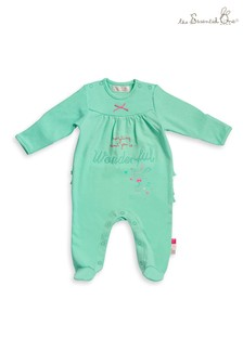 Baby Girls Frill Floral Sleepsuits 2 Pack