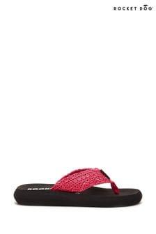 Rocket Dog Pink Spotlight Lima Crochet Fabric Flip Flops