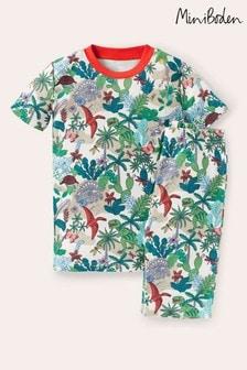 Boden White Cosy Short John Pyjamas