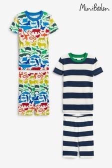 Boden Blue Cosy Twin Pack Short Pyjamas