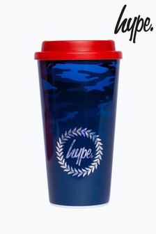 Hype. Blue Camo Travel Mug