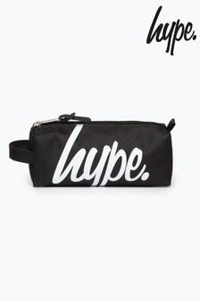 Hype. Black Bold Script Pencil Case