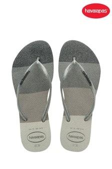 Havaianas White Slim Glow Flip Flops