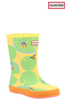 Hunter First Classic Lilly Pad Wellington Boots