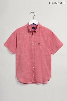 GANT Regular Short Sleeve Cotton Twill Slub Shirt
