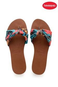 Havaianas Brown You Saint Tropez Sandals