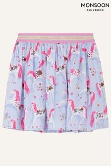 Monsoon Purple Floral Unicorn Skirt