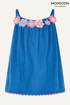 Monsoon Blue Fiesta Flower Camisole