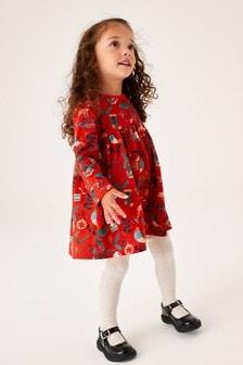 Red Christmas Jersey Dress (3mths-7yrs)