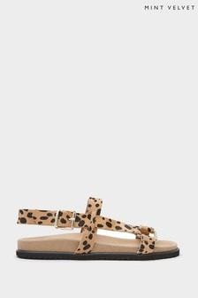 Mint Velvet Vicky Leopard Sporty Sandals