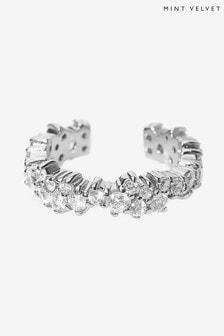 Mint Velvet Silver Plated Crystal Ear Cuff