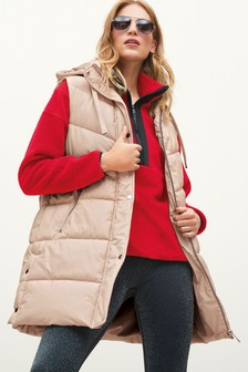 Neutral PU Faux Leather Gilet