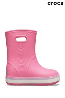 Crocs™ Pink Crocband Rainboot Pull On Wellingtons