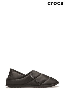Crocs™ Black Neo Puff Slippers