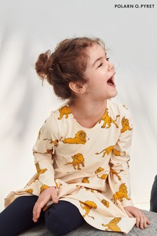 Polarn O. Pyret Cream Organic Cotton Disney The Lion King Simba Print Dress