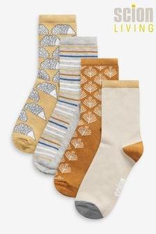 Hedgehog Design Scion at Next Ankle Socks 4 Pack