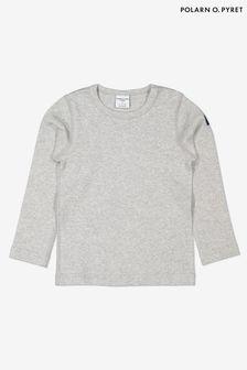 Polarn O. Pyret Grey Organic Cotton Top