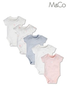 M&Co Animal Circus Short Sleeve Bodysuits 5 Pack