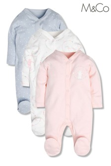 M&Co Sleepsuits 3 Pack