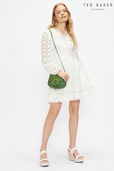 Ted Baker Liyaa Broderie Long Sleeve Mini Dress
