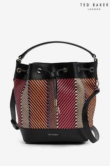 Ted Baker Taliiaa Woven Drawstring Bucket Bag