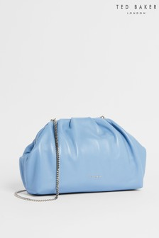 Ted Baker Abyoo Gathered Leather Clutch Bag