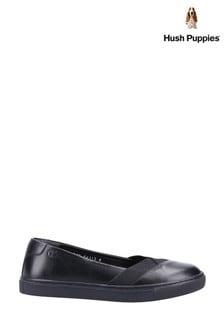 Hush Puppies Black Tiffany Slip-On Shoes